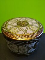 Beautiful Vintage Circular Round, Candy, Jewelry Tin made in England