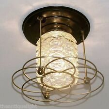 461 Vintage 50s 60s Virden Ceiling Light Lamp Fixture MidCentury retro 1 of 4