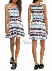 Disney Frozen Elsa & Anna Silhouette Fair Isle Skater Sun Dress Juniors Size XS