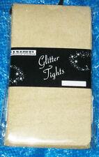 Golden Lurex Womens Tights. 10-16 Sparkle angel glitter gold metallic Xmas