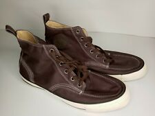 Converse Men's High Top Sneakers Shoes Size 13 Canvas Brown Great Shape