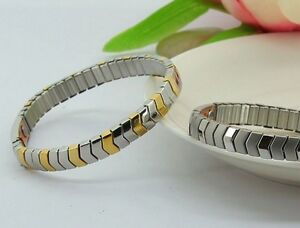 Stainless + Copper Magnetic Energy Armband Power Bracelet Health ELASTIC bangle