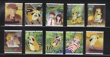 JAPAN 2012 ANIMATION HERO 18TH ISSUE RASCAL THE RACCOON SET 10 STAMPS FINE USED