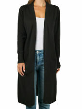 August Silk Womens Sweater Black Size Small S Open Front Cardigan $58 316