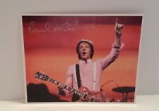 RARE* Paul McCartney Color Picture in Concert w/Facsimile Autograph NICE!
