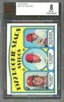 1972 topps #101 J.R. RICHARDS houston astros rookie card BGS BVG 8
