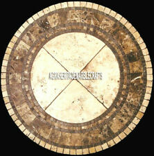 "48"" Coffee Round Marble Table Top Handmade Inlay Arts Furniture Home Decor"