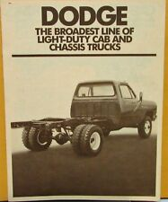 1981 Dodge Light Duty Cab & Chassis Trucks Fleet Sales Folder Original