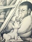 Diego Rivera, Boy with Chihuahua 1932, Hand Signed Lithograph