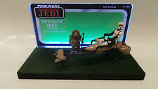 1 X Vintage Star Wars Speeder Bike/Scout Display Stand/Diorama-LED Retroiluminada