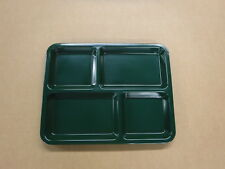 """Box of 12 Carlisle Compartment Tray Kl444-08 Forest Green 8.5""""x11"""""""