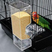 No Split Bird Seed Feeder Cage Parrot Automatic Foraging Systems Food Feeding
