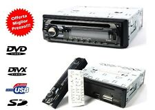 AUTORADIO STEREO AUTO RADIO FM MP3 SD USB DVD CD AUX 52Wx4 FRONTALINO ESTRAIBILE