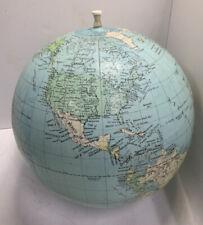 "Vintage 10"" Inflatable Globe Sphere Map OldPaperMapsCom"