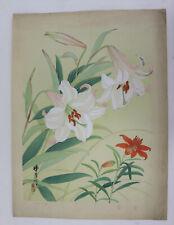 Iris :Japanese print original Shin Hanga, Zuigetsu