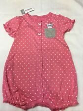 Carter's  one piece 24 month bodysuit.Pink with white polka dots.  New with tags