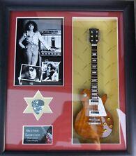 Marc Bolan T Rex Framed Guitar & Plectrum Presentation