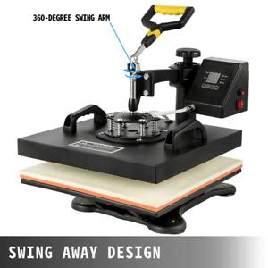 6 in 1 Heat Press Machine Swing away DIY T-shirt Sublimation Transfer Equipment