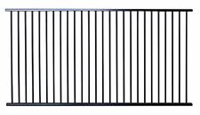 Black Aluminium Pool Fencing Panel 2450mm x 1200mm high Flat Top - Garden Fence