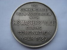 1937 TO COMMEMORATE YOUR ASSOCIATION WITH H.M.V.DURING CORONATION YEAR MEDAL