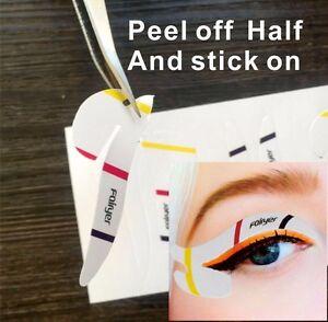 Eyeliner Make-Up Schablonen Aufkleber Vorlage Set Mix 12 Paare