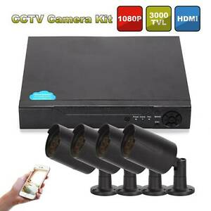 CCTV Security Camera System 8CH 5IN1 AHD 1080N HDMI DVR+4 Cameras 3000TVL 1080P