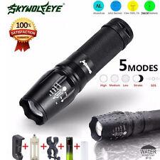 G700 LED 5000 Lumen Zoom Linterna Antorcha lumitact militar X800 + 18650 Y Cargador