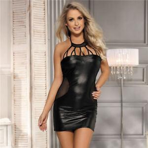 SEXY Vinyl WEB Mini Dress Plus Size  8 10 12 14 16 18 20  RBM
