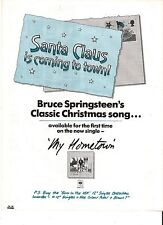 SPRINGSTEEN 'Santa Claus' UK magazine ADVERT/Poster/clipping 11x8 inches