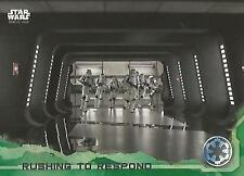 """Star Wars Rogue One Series 1: #48 """"Rushing to Respond"""" Green Parallel Base Card"""