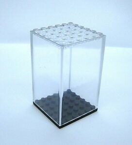 Display Case for Lego Minifigures -6x6 stud size- NEW! Clear, Dust Free!