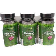 3 Irwin Naturals MELATONIN plus 5-HTP & Rhodiola sleep calm 54 SoftGels 07/2020