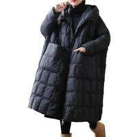 Winter Damen Oversize Ente Daunenmantel Kapuze Warm Puffer Parka Mantel L