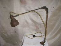 Vintage McCrosky Industrial Bench Lamp Machinist Work Light O C White Era
