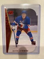 2020-21 UD Series 2 Alexis Lafreniere 94-95 Diecut Tribute Red Parallel SSP Rc