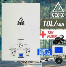 Gecko Portable Gas Powered Water Heater with Bonus 12V Water Pump