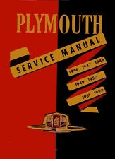 1946 1949 1950 1951 1952 Plymouth Shop Service Repair Manual Engine Drivetrain