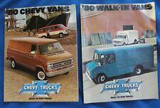 Pair of 1980 CHEVY VAN Advertising Booklets Chevrolet Walk-In Vans Marketing
