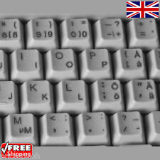 Swedish Finnish Transparent Keyboard Stickers With Black Letters for Laptop PC