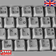 Swedish finnish Transparent Keyboard Stickers with Black Letters for Ordinateur Portable PC