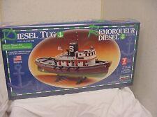 "Diesel Tug Boat Model Kit 1/87 Lindberg New Sealed Ship 13.5"" Long Ho Scale"