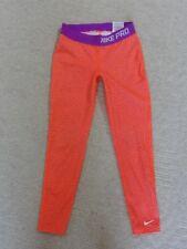 Nike Girls Pro Tights Compression Reflective Running Gym Dance  679445 orange