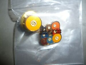pin badge -billiards snooker pool players cue sports - nine ball