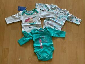 TOP Süsses 3er Set Bodys Langarm KLITZKLEIN Little Mermaid Gr. 50/56 NEU + OVP
