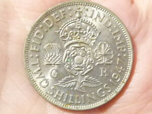 1947 George VI Two Shillings Florin Coin #J25