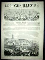 MONDE ILLUSTRE Roi PRUSSE Chasse Venerie Compiegne Mission Vietnam St Ouen 1861