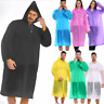 Unisex Waterproof Jacket Clear Raincoat Rain Coat Hooded Poncho Rainwear Men