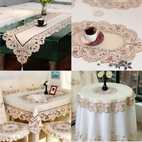 Vintage Embroidered Lace Table Runner Dining Table Cloth Cover Mat Wedding Party
