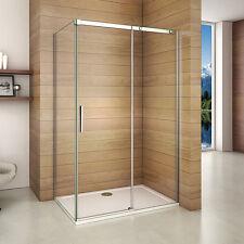 1200x900x1950mm Frameless Sliding Shower Enclosure Glass Cubicle+Side Panel