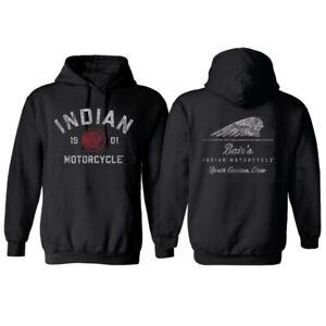 Bair's Indian Motorcycle Hoodie - Vintage Black - IMC-HOODIE-VBLK